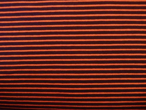Jersey Streifen braun orange Meterware gestreift Ringel