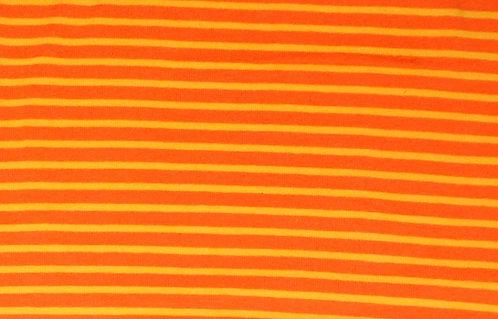 Campan Jersey Streifen orange gelb Meterware gestreift Ringel