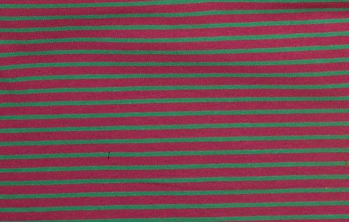 Campan Jersey Streifen pink grün Meterware gestreift Ringel
