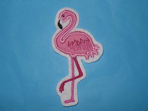 Flamingo Aufnäher rosa von 10-30cm