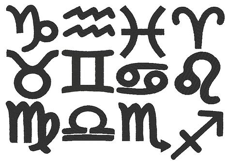 Sternzeichen Symbole  Stickdatei