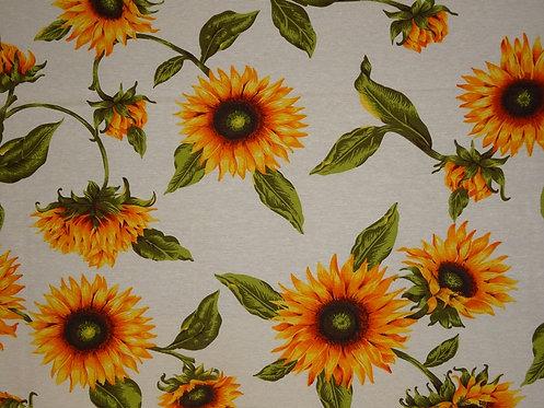 Canvas Sonnenblume Baumwolle Meterware Sonnenblumen