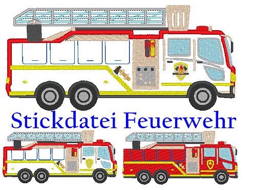 Feuerwehr Stickdatei