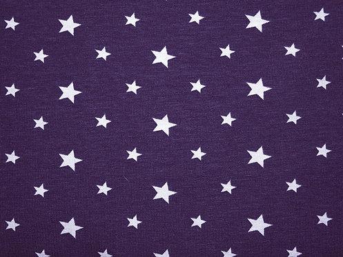 Sterne 1cm und 1,5cm lila flieder Jersey Baumwolljersey Meterware