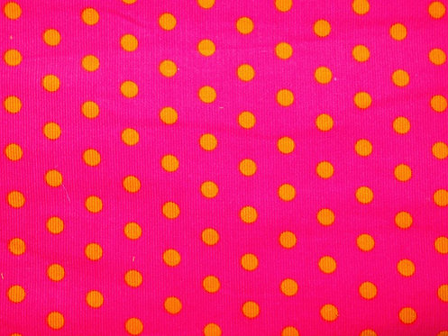 Cord Feincord Punkte pink orange Meterware