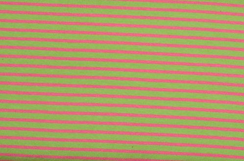 Campan Jersey Streifen hellgrün lachs rosa Meterware gestreift Ringel
