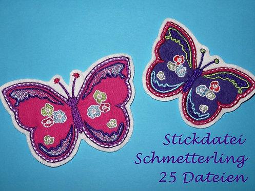Schmetterling Flower Butterfly Stickdatei