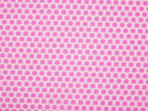 Sterne rosa auf weiß Baumwolle Meterware