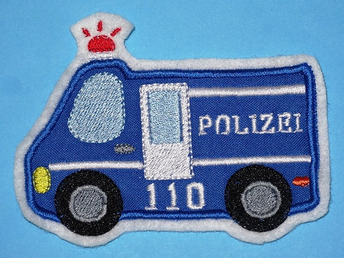 Polizei Auto Aufnäher