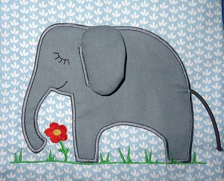 3D Elefant Stickdatei + Doodle
