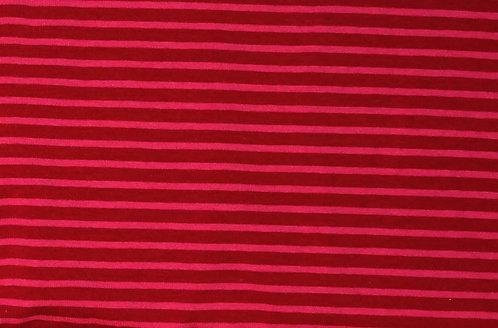 Campan Jersey Streifen  bordeaux pink Meterware gestreift Ringel