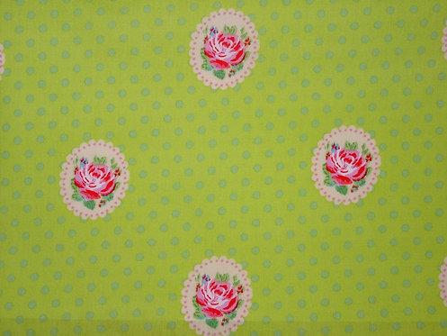 Rosen auf grün Baumwolle