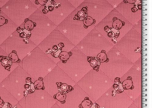 Musselin Bärchen auf rosa für Schlafsack Stepper Steppstoff Double Gauze
