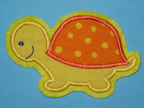 Schildkröten Aufnähergelb orange