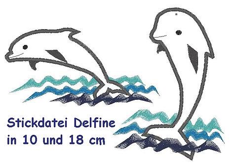 Stickdatei Delfin Delphine