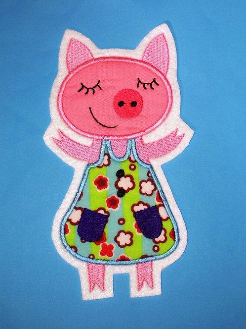 XL Schweinchen Aufnäher