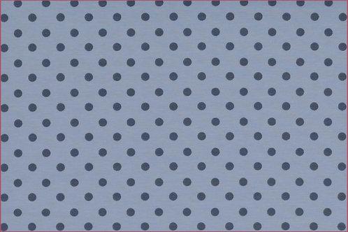 Punkte 5mm hellblau grau Jersey Baumwolljersey Meterware