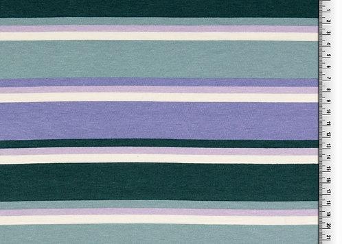 Streifen mint dunkelgrün flieder creme blau  weich Viskosejersey Jersey Viskose