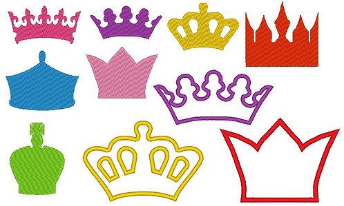 Stickdatei Kronen 3.0 Krone Prinzessin