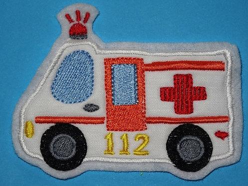 Krankenwagen Auto Aufnäher