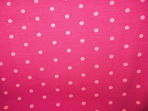 Punkte pink rosa 5mm Jersey Meterware Baumwolljersey