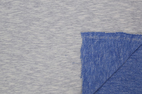 Sommersweat French Terry Sweat Melange uni blau Meterware