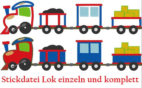 Lok Eisenbahn Stickdatei