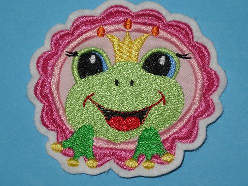 Frosch Button Aufnäher rosa
