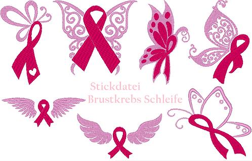 Brustkrebs Schleife Stickdatei