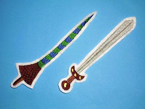 Ritter Lanze und Schwert Aufnäher
