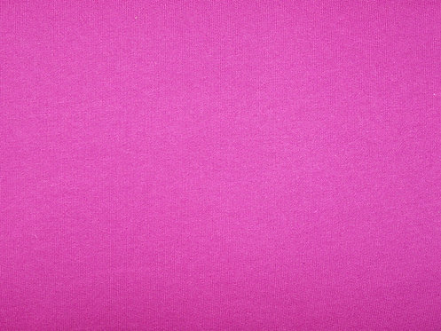Wintersweat Sweat uni fuchsia pink Meterware kuschlig angeraut