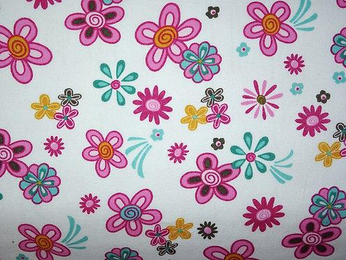 Blumen weiß rosa pink Baumwolle