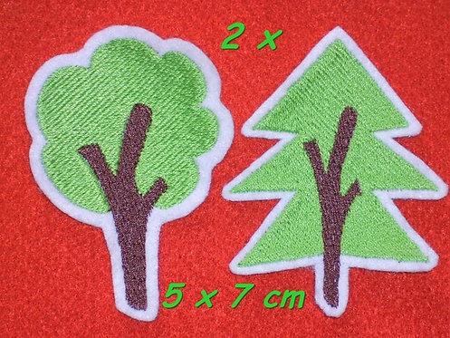 2 Bäume als Aufnäher