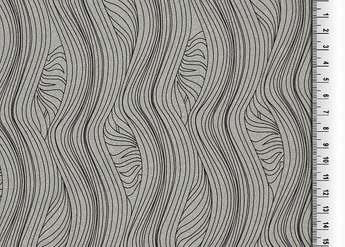 Funktionsjersey mit Wellen grau  Meterware Polyester Jersey