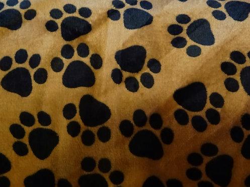 Tatzen Flauschstoff Wellnessfleece Fleece Meterware Katzen Hunde Pfoten