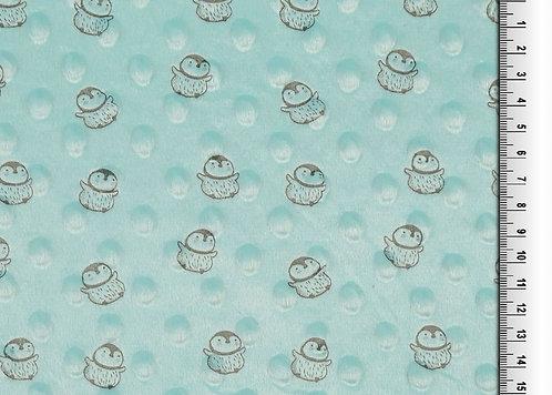 Bubble Fleece Baby mint Pinguin Meterware weich zart