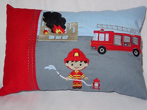 Feuerwehr Kissen ITH Stickdatei