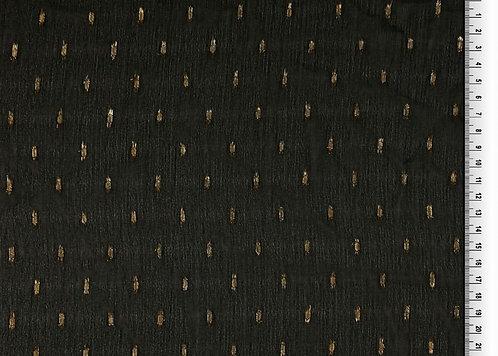 Chiffon schwarz mit gold Milliblu´s Meterware edel