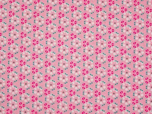 Muster Ornamente Punkte rosa Baumwolle Meterware