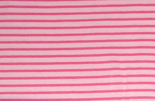 Campan Jersey Streifen zartrosa rosa Meterware gestreift Ringel