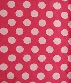 Softshell Fleece Punkte 2cm rosa hellrosa Meterware Winddicht