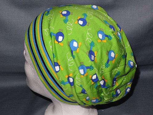 Beanie Hubschrauber grün Mütze Handmade genäht Jersey