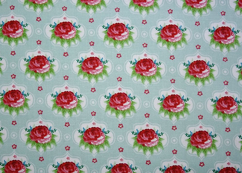 Rosen auf mint Baumwolle