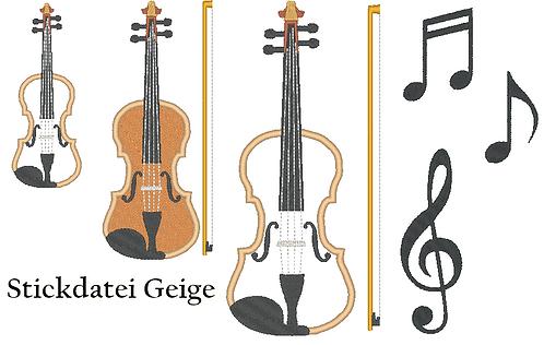 Geige Stickdatei