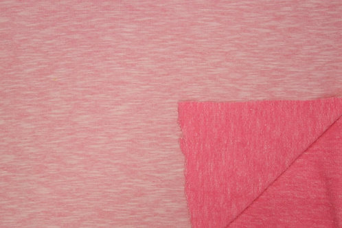Sommersweat French Terry Sweat Melange uni rosa Meterware