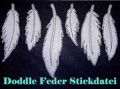Doodle Feder Stickdatei