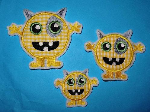 Monster gelb Aufnäher