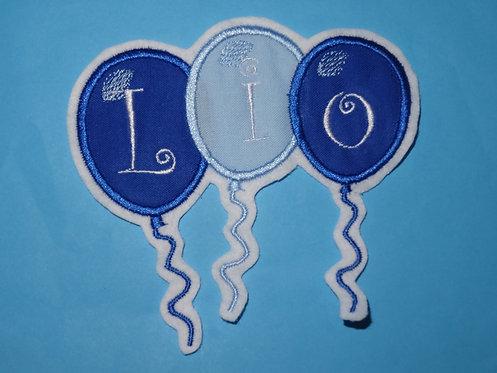 Luftballon mit Name Aufnäher