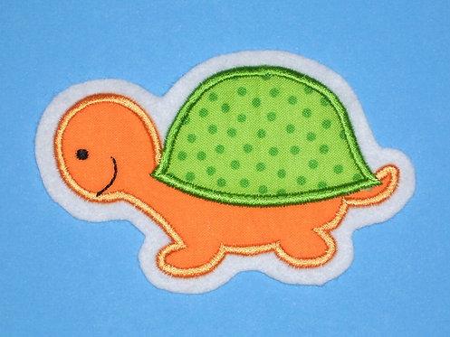 Schildkröten Aufnäher grün orange