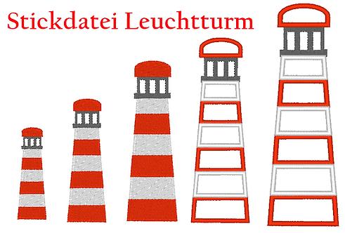 Leuchtturm Stickdatei